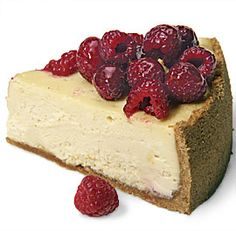 This showstopping cheesecake is topped with a pile of jewel-like glazed raspberries, a tart contrast to the sweet white chocolate filling. Create your own customized cheesecake recipe with our Recipe Maker. Melting White Chocolate, Chocolate Cream Cheese, Chocolate Blanco, Chocolate Filling, Chocolate Roulade, Cheesecake Bars, Cheesecake Recipes, Homemade Cheesecake, White Chocolate Raspberry Cheesecake