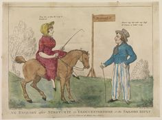 An Enquiry after Stretch it in Gloucestershire or the Sailor's Reply (caricature) - National Maritime Museum