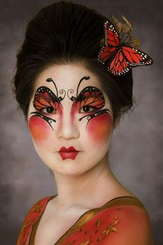 face painting eye make up Butterfly Face Paint, Butterfly Eyes, Madame Butterfly, Butterfly Makeup, Monarch Butterfly, Butterflies, Make Up Art, Eye Make Up, Fantasy Make Up