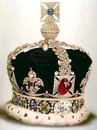 One of the most famous is St. Edward's Sapphire, a blue faceted cushion set in the Maltese Cross atop the Imperial State Crown of the United Kingdom. It's exact weight is unknown but stories of its history date back to 1042 AD.