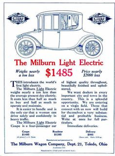 Milbun Electric Automobile Advertisement