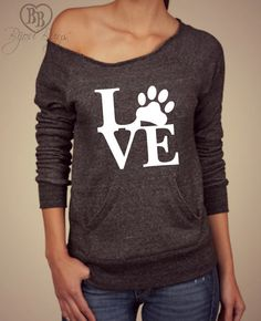Animal Love Love with Paw print design on Wide neck by BijouBuys