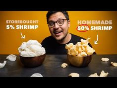How To Make Krupuk Prawn Crackers From Scratch - YouTube Finger Food Appetizers, Finger Foods, Appetizer Recipes, Snack Recipes, Snacks, Sea Weed Recipes, Asian Recipes, How To Make Shrimp, Prawn