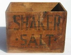 Vintage Antiqued Wooden Box Trug Strand Post Office Sorting Box Crate