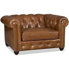 Bradington-Young Wellington Chair and a Half Upholstery: 905500-25, Finish: Plantation