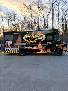 Flame Fury Grill Food Truck For Sale Food Truck For Sale, Trucks For Sale, Truck Restaurant, Running Food, Chevy Models, Concession Trailer, Kitchen Sale, Cooking Equipment, Grilling Recipes