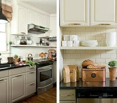 Under Cabinet Shelving Kitchen Tiles Designs 27 Best Shelves Images Storage Small Move Existing Cabinets Up On The Wall To Have Ceilings And Place Shelf Another Option Above