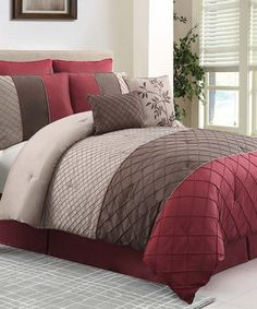 Another great find on #zulily! Red Covington Comforter Set by Victoria Classics #zulilyfinds