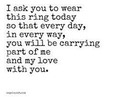 Image result for with this ring quotes