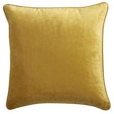 One on each red chair;  $23.96 Gold Velvet Pillow