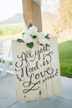 Wedding decorations for a barn wedding.