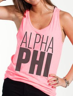 Neon Sorority Tank - Sorority Must Haves - Greek