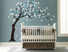 Cherry blossoms Tree decal nursery wall decal by DreamKidsDecal