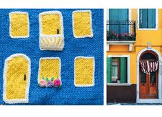 Shereo's crochet pattern video tutorial of colorful towns blanket Have Time, Crochet Patterns, Kids Rugs, Blanket, Projects, Handmade, Crafts, Colorful, House