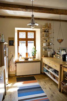 Die Küche In Erdigen Farben. #KOLORAT #Wandgestaltung #Wohnideen
