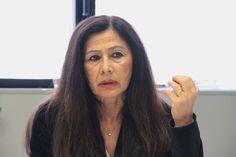 Oggi abbiamo parlato di...Cristina Quintavalla Tsipras, in una fase della conferenza di stamane