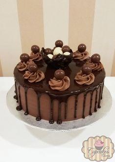 Chocolate Cake Decoration Candy Peanut Butter 66 New Ideas Cake Decorating Designs, Creative Cake Decorating, Birthday Cake Decorating, Creative Cakes, Cake Icing, Buttercream Cake, Cupcake Cakes, Chocolate Cake Designs, Chocolate Cupcakes
