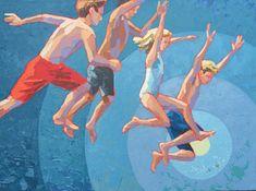 "Paul Norwood, ""Summer Friends"", 36 x 48, Oil on Canvas | Eisenhauer Gallery of Edgartown, MA"