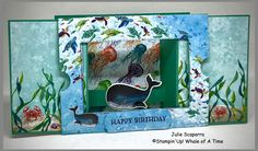 Fun Fold Cards, Folded Cards, One Fish Two Fish, Stampin Up Catalog, Animal Cards, Card Maker, Kids Cards, Stampin Up Cards, Birthday Cards