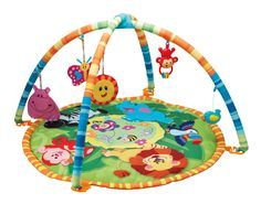 Your Baby can Join Jungle Friends on the Jungle Pals Play mat. The Jungle Pals Play mat comes with Hanging Rattles and Fun Animals to Stimulate Baby. Rattles can be Removed and are Easy to Wash and Clean. Baby Play, Baby Toys, Walmart, Little Tikes, Happy Animals, Tummy Time, Baby Safe, Fisher Price, Cleaning Wipes