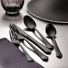 Hampton Forge 20-Piece Stainless Steel Flatware Set (Palace Gunmetal)