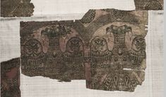 This 12th c. AD silk fragment was found in the tomb of Saint Bernard of Calvó (d. 1243) in the Cathedral of Vich in Catalonia. It's believed to be a part of a booty from the reconquest campaigns against the Muslims of Spain that Calvó led as bishop of Vich.