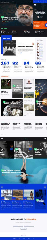 Online magazine template