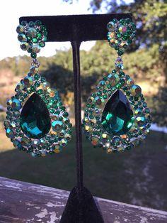 Emerald+Earrings|+Big+Emerald+Earrings|JE-202-7