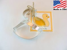 Rubber Ducky Metal Cookie Cutter by Ann Clark by CookieCutterGuy