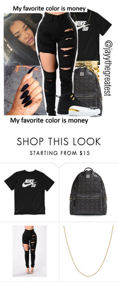 """""""Untitled #76"""" by ittybittyjay ❤ liked on Polyvore featuring NIKE, MCM and Fremada"""