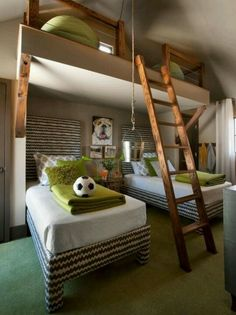 This is a great use of space for your loft conversion, imagine how much fun your kids would have in their bedroom