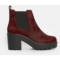 ASOS EVERY CLOUD Leather Chelsea Ankle Boots ($48) ❤ liked on Polyvore featuring shoes, boots, ankle booties, oxblood pony, asos boots, leather boots, leather ankle boots, genuine leather boots and leather ankle bootie