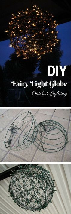Check out the tutorial on how to make an easy DIY fairy light orb @istandarddesign
