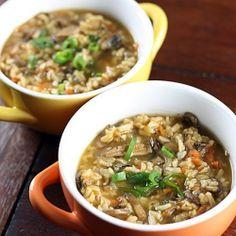 Porcini & Wild Rice Soup