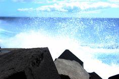 Arrebentamento das ondas no Jardim do Mar