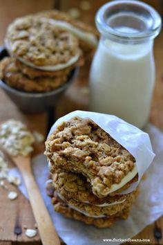 Gluten-free Vegan Oatmeal Cream Pies - Fork & Beans