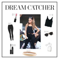 """Style steal ariana grande #1"" by louise-w-pedersem on Polyvore featuring MANGO, Topshop, Christian Dior, Essie, MAC Cosmetics, Chanel, NARS Cosmetics, women's clothing, women's fashion and women"