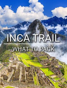 Need help deciding what to bring on your trek to Machu Pichu? Read our comprehensive guide on everything you'll need to have on the Inca Trail! #incatrail #machupicchu #peru #trekking #treksinperu #trekkers #treks #cusco #sacredvalley