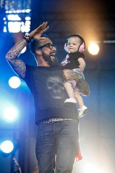 AJ McLean and his Beautiful baby girl Ava!