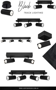 Black track lighting is very adaptable and using various lengths and joiners track can be fit into any shape, configuration and size you require. Black track can offer a more modern and industrial look. Black Track Lighting, Lighting Solutions, Industrial, Shape, Lights, Fit, Modern, Trendy Tree, Industrial Music