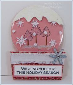 Snowglobe In Pink! - Lee's card using a snowglobe tutorial that will be a future challenge on the blog!