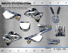 Yamaha YZ 125 - 250 '96-'01 Moto-StyleMX graphics decals kits Yamaha Yz 125, Decals, Graphics, Tags, Graphic Design, Sticker, Decal, Printmaking
