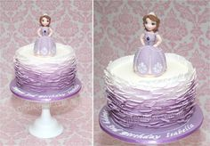 Sofia the First Birthday Cake. With hand modeled Sofia the First Figurine. Sofia The First Birthday Cake, 2nd Birthday, Birthday Parties, Birthday Ideas, Princess Sofia Cake, First Birthdays, Cake Decorating, Cupcakes, Cake Baby