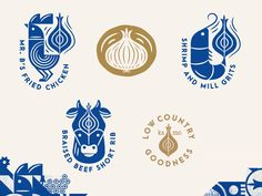 Creative Branding, Brass, Onion, and Iconography image ideas & inspiration on Designspiration 2 Logo, Logo Branding, Inspirations Boards, Logo Restaurant, Identity Design, Food Logo Design, Design Web, Design Trends, Grafik Design