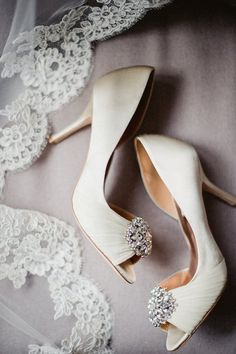 Elegant wedding shoes idea; photo: Amanda Megan Miller Photography