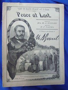 1885 U.S.Grant Sheet Music Folio
