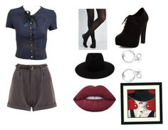 """""""Untitled #45"""" by happy-geek7 ❤ liked on Polyvore featuring Chanel, New Look, rag & bone, Lime Crime and darkcolors"""