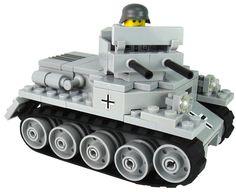 Custom LEGO Military Vehicle Model Set German Panzer 1 Light Tank w/1 Crew - Brick Brigade LLC