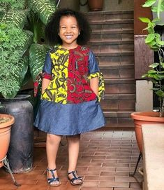 Latest Ankara Dress Styles - Loud In Naija Baby African Clothes, African Dresses For Kids, Latest African Fashion Dresses, African Dresses For Women, Dresses Kids Girl, African Attire, Ankara Fashion, African Hair, African Style