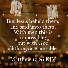 All things are possible  #Bible #verse